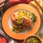 Glazed Chicken & Orange Salsa