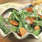 Glazed Snow Peas & Carrots