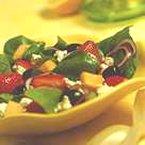 Spinach, Fruit & Feta Salad