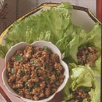 Stir-Fried Pork in Lettuce Leaves