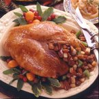 Turkey Breast with Sausage-Apricot Stuffing